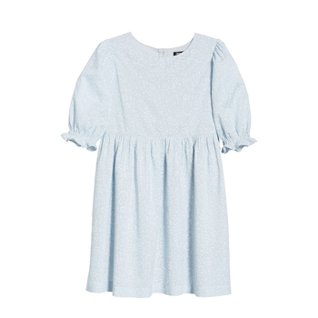 Something Navy Puff Sleeve Dress