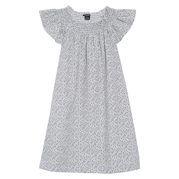 Something Navy Smocked Flutter Sleeve Dress