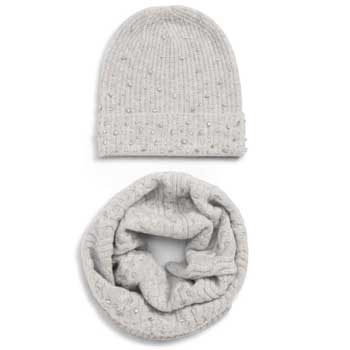 Nordstrom Sale Something Navy Jewel Snood and Beanie