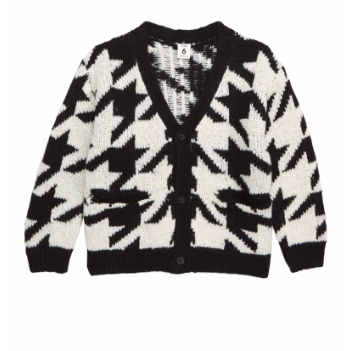 Kids Spring Fashion Trends Boys' Houndstooth Cardigan