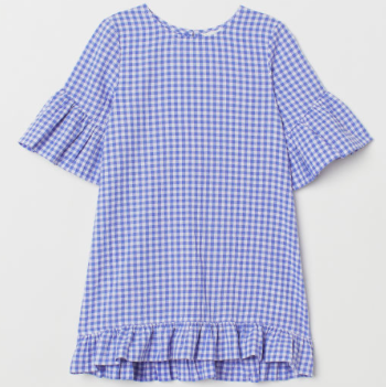 Kids Spring Fashion Trends H&M Girls Gingham Flounced Dress