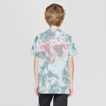 Kids Spring Fashion Trends Boys' Short Sleeve Tie-Dye Graphic T-Shirt
