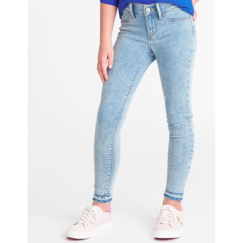 Kids Spring Fashion Trends Old Navy Stone Washed Raw Hem Jeans for Girls