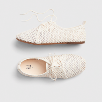 Kids Spring Fashion Trends Gap Girls Woven Lace-Up Shoes