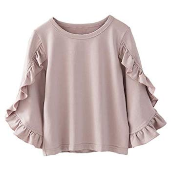 Kids Spring Fashion Trends Girls Ruffled Batwing Blouse