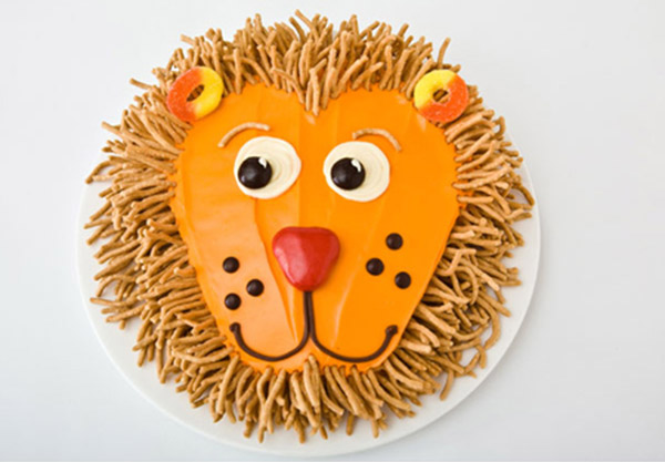 Lion Birthday Cake Design