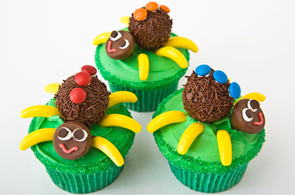 Spider Cupcakes Birthday Cake Design