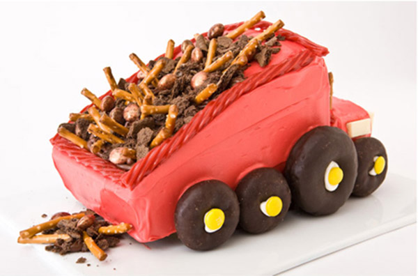 Dump Truck Birthday Cake Design