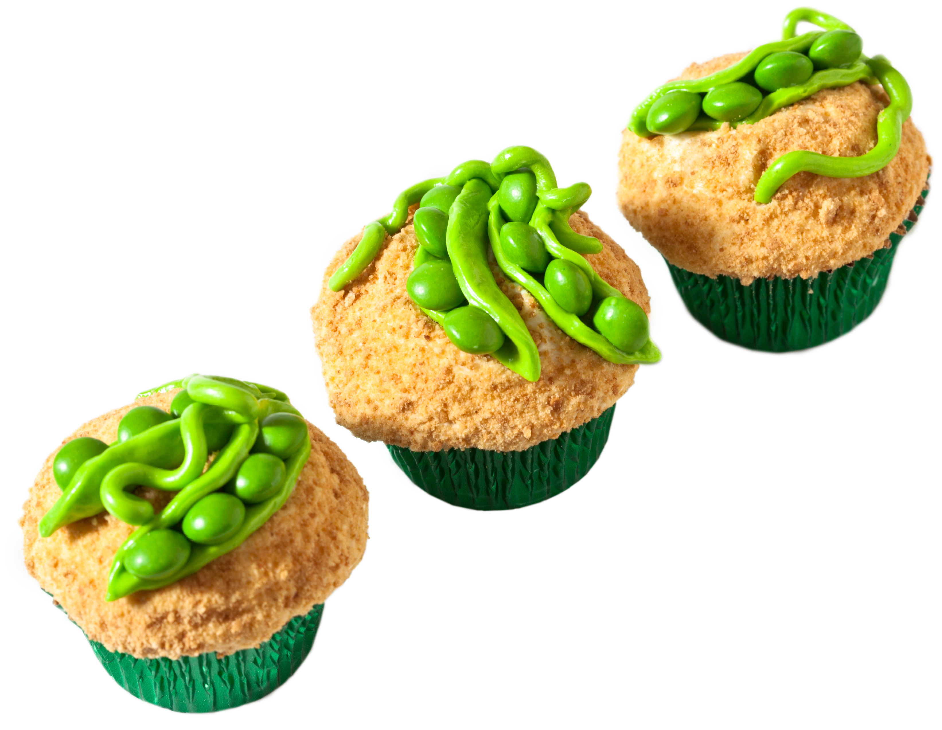 Sweet Peas in a Pod Cupcakes