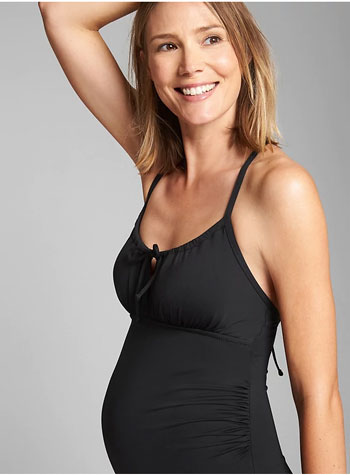 Tie-Back Maternity One-Piece