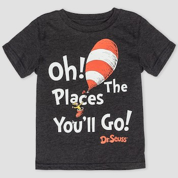 Toddler Boys' Dr. Seuss 'Oh! The Places You'll Go!' Short Sleeve T-Shirt