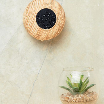 TYPO Wood Effect Shower Speaker