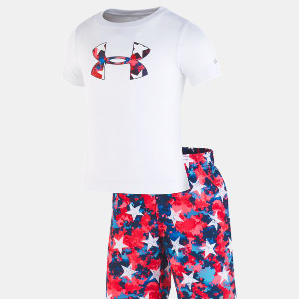 Under Armour Volley Set red and blue star print