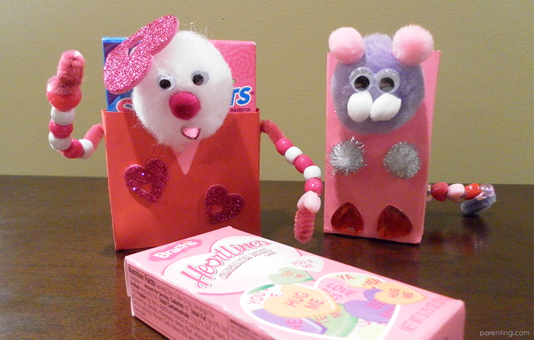 Valentine Candy Heart Box Buddy Craft